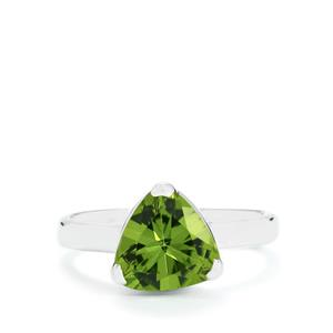 Peridot Ring in Sterling Silver 2.58cts