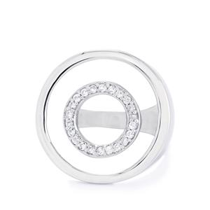 0.44ct White Topaz Sterling Silver Ring