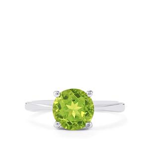 2.07ct Changbai Peridot Sterling Silver Ring