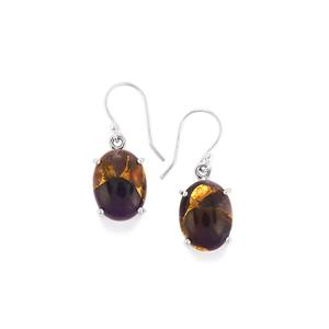 17ct Copper Mojave Amethyst Sterling Silver Aryonna Earrings