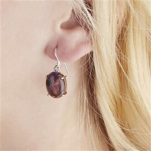 Copper Mojave Amethyst Earrings in Sterling Silver 17cts