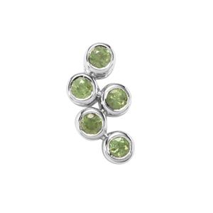 Ambanja Demantoid Garnet Pendant in Sterling Silver 1.03cts