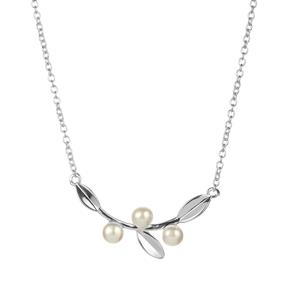 Kaori Cultured Pearl Necklace in Sterling Silver (4mm)