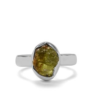 5.27ct Mojave Peridot Sterling Silver Ring