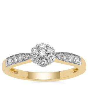 Diamond Ring in 18K Gold 0.36cts