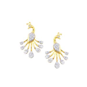 Diamond Earrings in 9K Gold 0.50ct