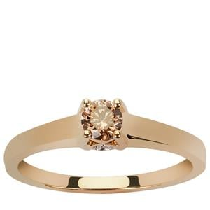 Argyle Diamond Ring in 9K Gold 0.26ct