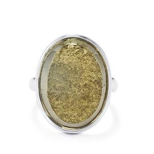 Drusy Pyrite Ring in Sterling Silver 30cts