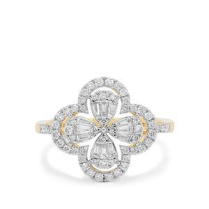 Diamond Ring in 18K Gold 0.78ct