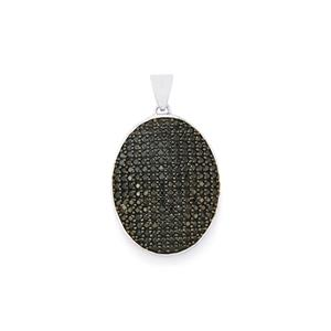 3.40ct Black Spinel Sterling Silver Pendant