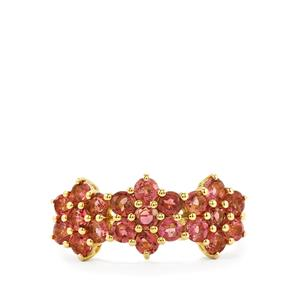 1.31ct Pink Tourmaline 10K Gold Ring