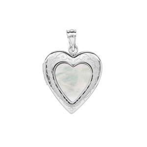 Mother of Pearl Locket in Sterling Silver