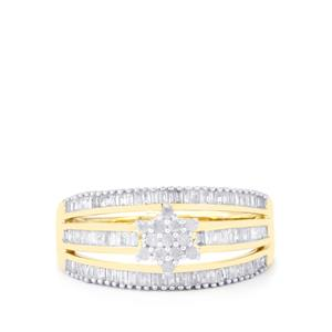 Diamond Ring in 9K Gold 0.52ct