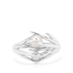 Kaori Cultured Pearl Sterling Silver Beauty Ring (4mm)