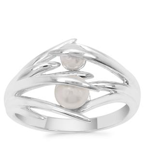 Kaori Cultured Pearl Beauty Ring in Sterling Silver (4mm)
