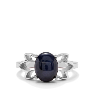 4.36ct Madagascan Blue Star Sapphire Sterling Silver Ring