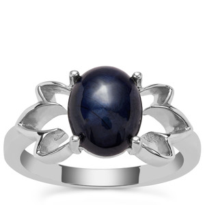 Madagascan Blue Star Sapphire Ring in Sterling Silver 4.36cts