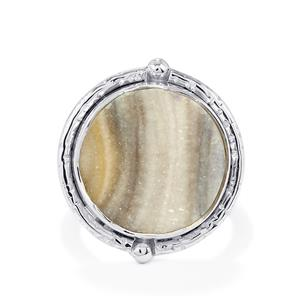 10.50ct Maranhao Drusy Sterling Silver Aryonna Ring