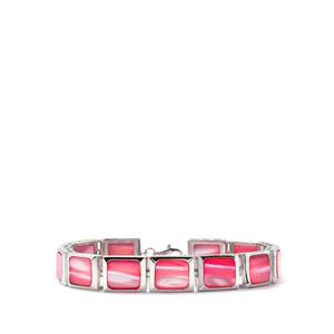 Pink Mother of Pearl Bracelet in Sterling Silver