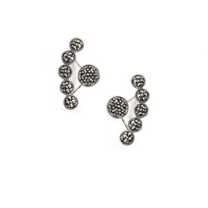 0.81ct Natural Marcasite Sterling Silver Jewels of Valais Earrings