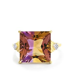 Anahi Ametrine Ring with Diamond in 9K Gold 7.48cts