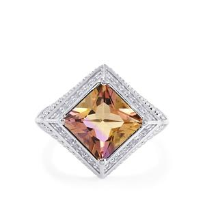 Anahi Ametrine Ring with White Topaz in Sterling Silver 3.43cts
