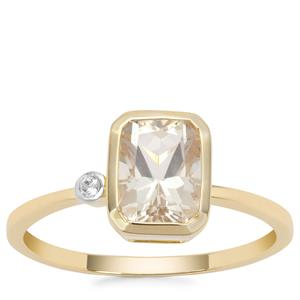Serenite Ring with White Zircon in 9K Gold 1.49cts