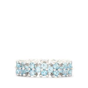 3.36ct Swiss Blue Topaz Sterling Silver Ring