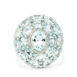 5.14ct Espirito Santo Aquamarine Sterling Silver Ring