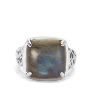 10.97ct Labradorite Sterling Silver Ring