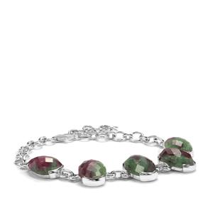 29.66ct Ruby-Zoisite Sterling Silver Aryonna Bracelet