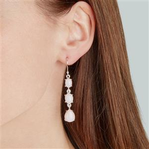 Peruvian Pink Opal Earrings in Sterling Silver 10.85cts