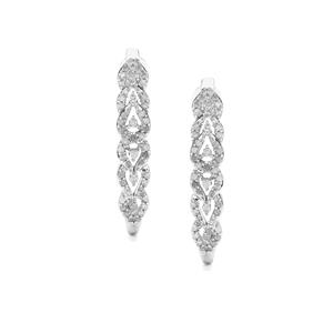 3/4ct Diamond Sterling Silver Earrings