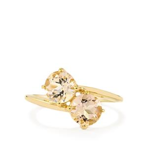 Mutala Morganite Ring in 10K Gold 1.85cts