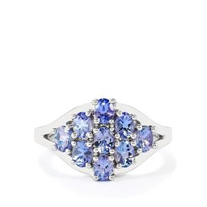 1.53ct Tanzanite Sterling Silver Ring