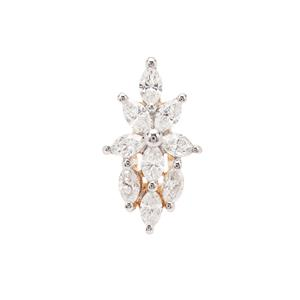 Diamond Pendant in 18K Gold 0.41cts