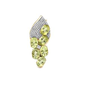Cuprian Tourmaline & Diamond 18K Gold Lorique Brooch MTGW 5.15cts