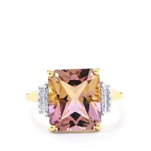 Anahi Ametrine Ring with Diamond in 9K Gold 5.54cts