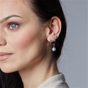Earrings in 9K White Gold
