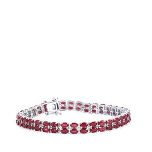 25.32ct Malagasy Ruby Sterling Silver Bracelet (F)