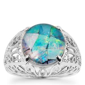 Mosaic Opal Ring in Sterling Silver  (11.50 x 11.50mm)