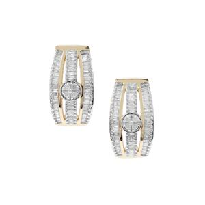 1/2ct Diamond 9K Gold Tomas Rae Earrings
