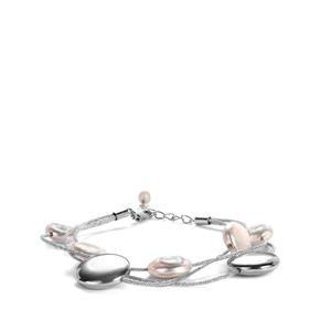 Baroque Cultured Pearl Bracelet with Kaori Cultured Pearl in Sterling Silver