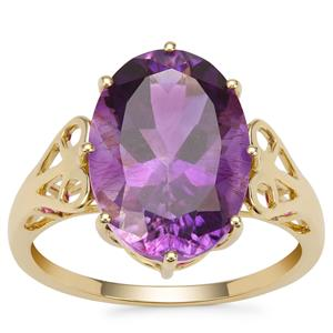 Moroccan Amethyst Ring in 9K Gold 5.18cts
