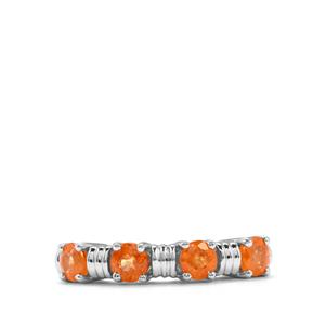 1.75ct Mandarin Garnet Sterling Silver Ring