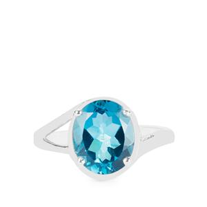 4.13ct London Blue Topaz Sterling Silver Ring