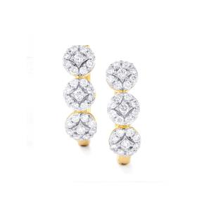 3/4ct Diamond 18K Gold Tomas Rae Earrings