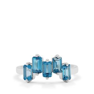 Swiss Blue Topaz Ring in Sterling Silver 1.45cts