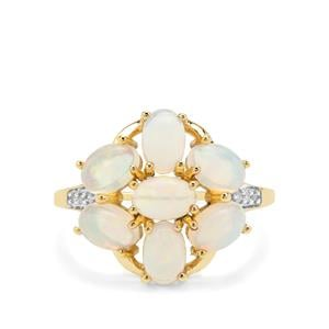 Kelayi Opal Ring with Diamond in 9K Gold 2.14cts