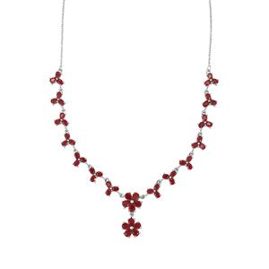 Malagasy Ruby Necklace in Sterling Silver 14.88cts (F)